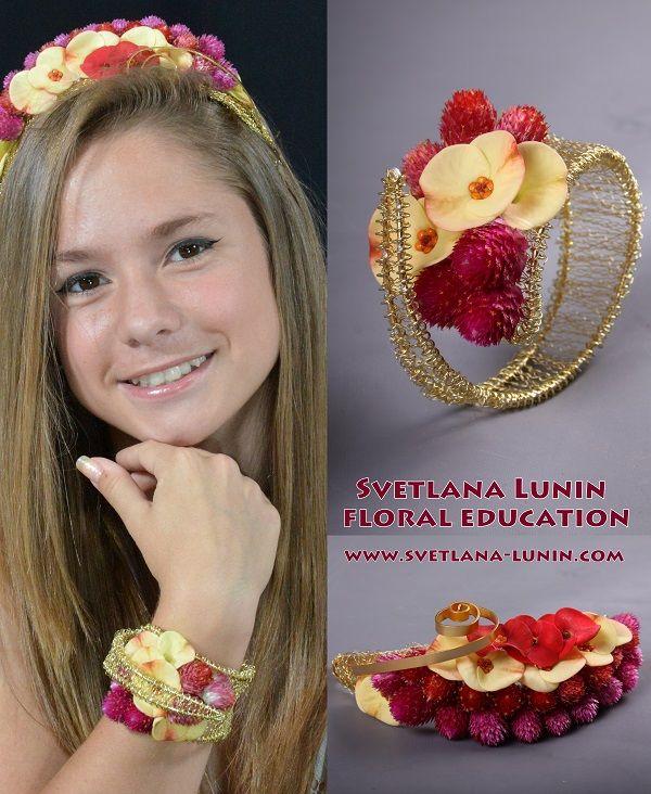 The Wedding Wreath And Bracelet Executed By Svetlana Lunin