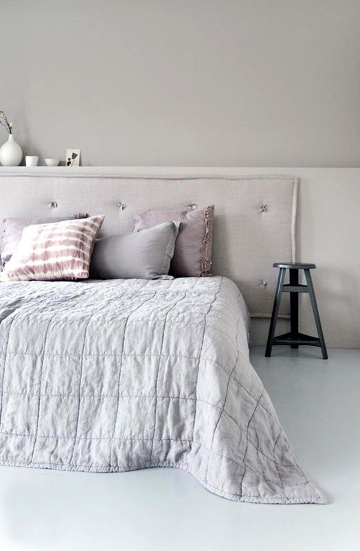 Bedroom: A soft, neutral colour palette creates a calm and restful environment