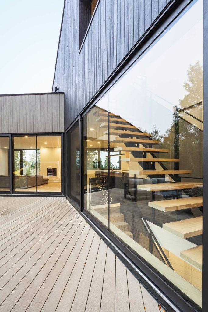 Modern Hillside House Forest House Hillside House House