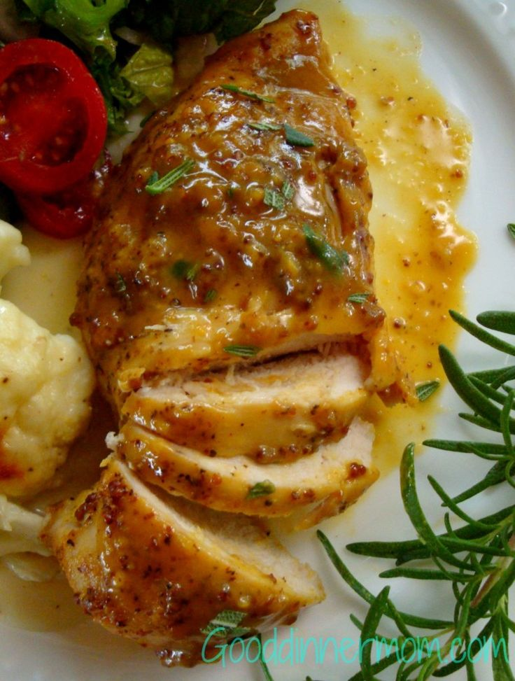 Sweet Mustard Chicken - The spicy mustard and maple syrup in this dish make it rich enough for company but it bakes up quick for any weeknight family dinner. - See more at: http://gooddinnermom.com/sweet-mustard-chicken/#sthash.lNCtKa2l.dpuf