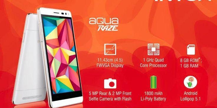 Intex Aqua Wing and Aqua Raze budget 4G smartphones now available for Rs. 4599 and Rs. 5199