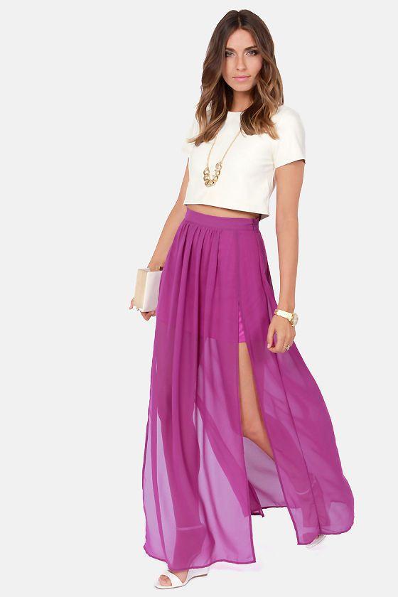 Best 20  Purple maxi skirts ideas on Pinterest | Purple night out ...