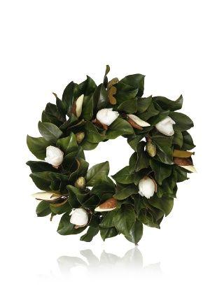Magnolia Leaf & Bud Wreath 24″  WANT AND NEED