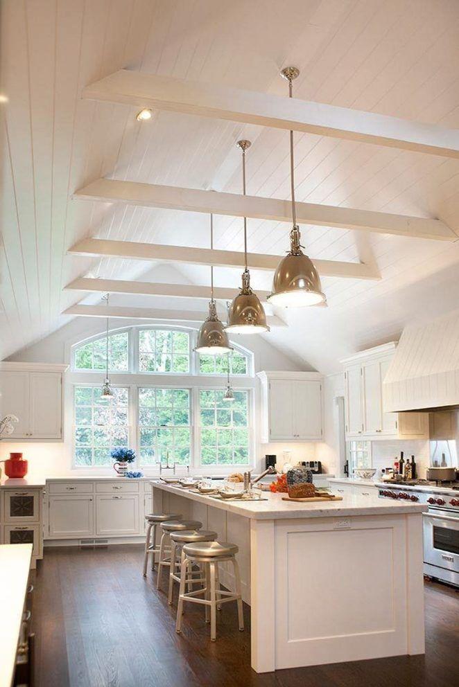 42 Ideen für eine fantastische Küche   Klassische weiße küche, Küchen design, Küchendecken