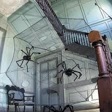 easy and cheap halloween decorating home made giant spiders