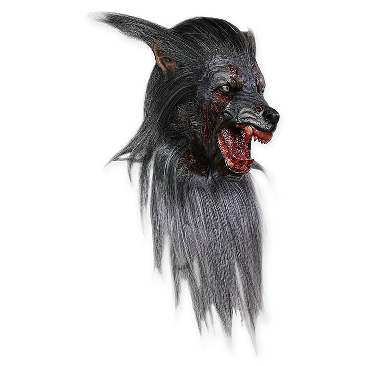 Ghoulish Productions Black Wolf Adult Mask grey/multi