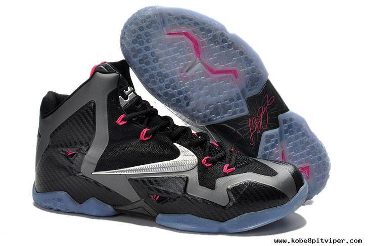 Black/Metallic Silver-Dark Grey-Pink Flash Nike LeBron 11 \