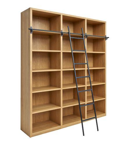 camus biblioth que en bois avec son chelle. Black Bedroom Furniture Sets. Home Design Ideas