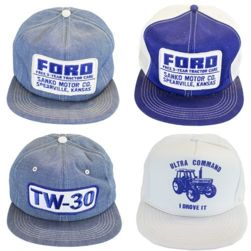 339bf6236 4 ViNtAgE FORD TRACTOR PATCH TRUCKER HAT SNAP BACK cap | vintage ...