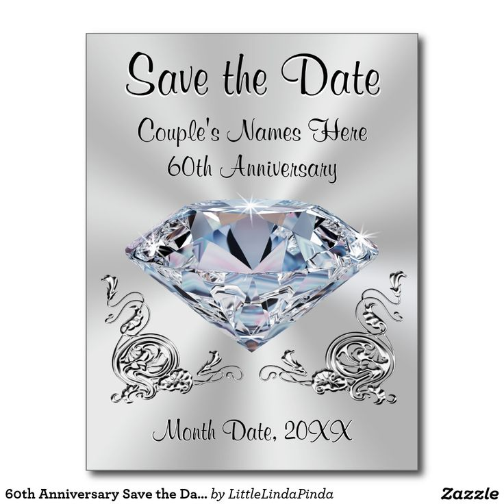 Click Http Www Zazzle 60th Anniversary Save The Date Cards Personalized 239878483183392932 Rf 238147997806552929 Or 75th Wedding