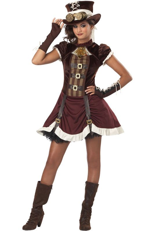 Steampunk Girl Tween Costume for Halloween - Pure Costumes Find more Halloween Costumes @ http://steampunkvapemod.com