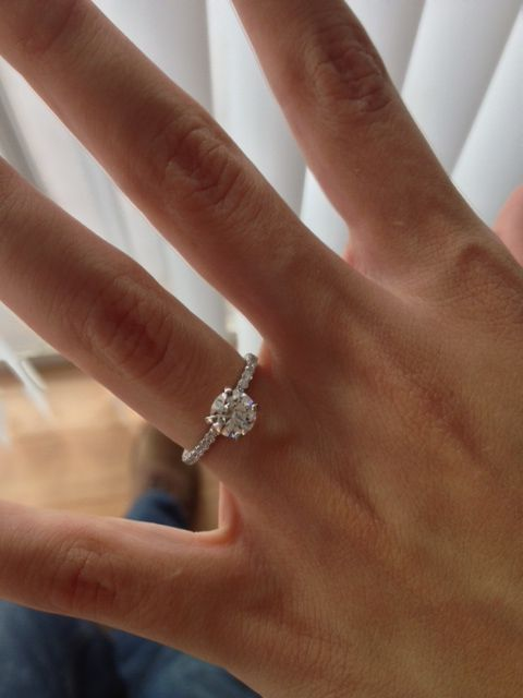 solitaire 1 ct engagement ring, so simple and yet so beautiful!