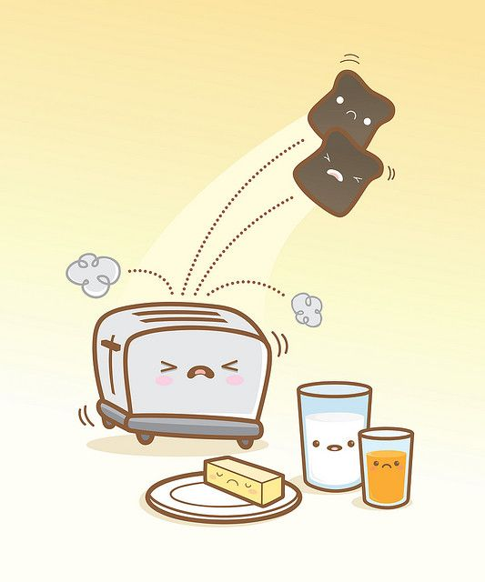Breakfast is ruined! by Jerrod Maruyama, via Flickr #Kawaii #Draw #Illustration