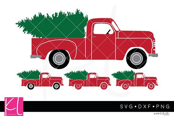The Big 22 Piece Vintage Christmas Truck Svg Bundle For Little Etsy Christmas Truck Red Truck Vintage Christmas