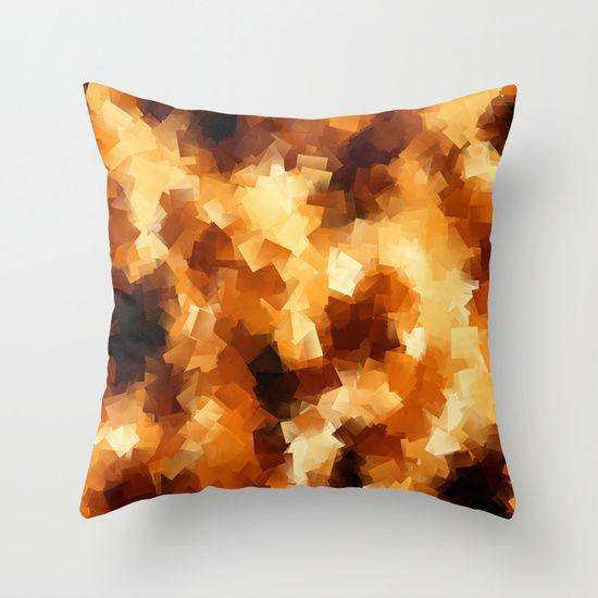 Cubist Fire Throw Pillow by Mailboxdisco