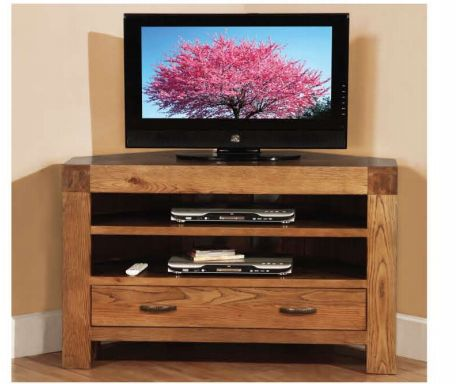 Rustic Oak Corner TV Cabinet with1drawer and 2 shelves is durable as well as glamorous furniture. read more http://solidwoodfurniture.co/product-details-oak-furnitures-3119-rustic-oak-corner-tv-cabinet-with-drawer-and-shelves.html