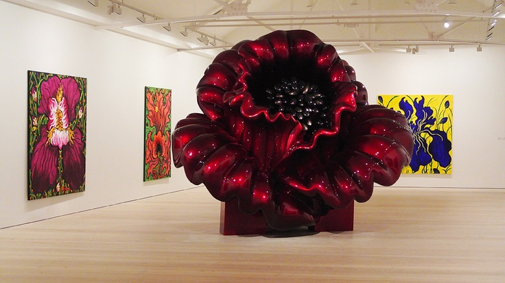Flower art at Saatchi gallery