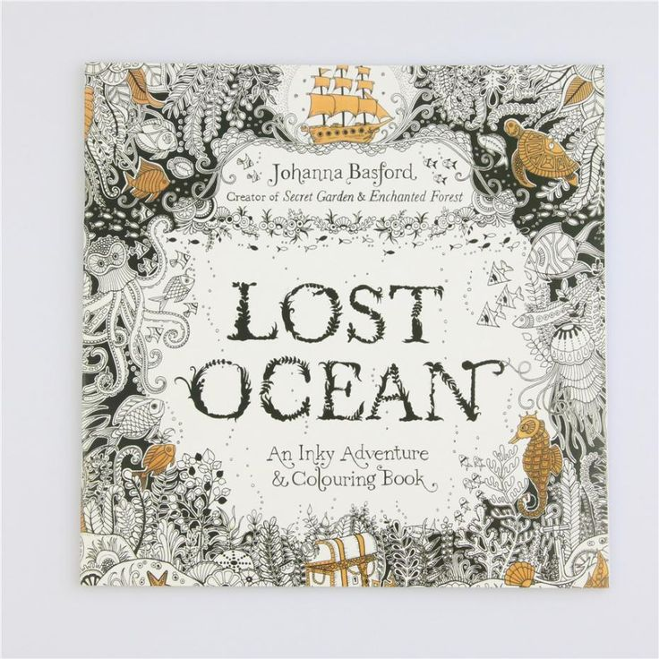 Hot Lost Ocean Coloring Book Antistress For Children Adult Relieve Stress Painting Drawing Secret Garden Colouring Books 24pages