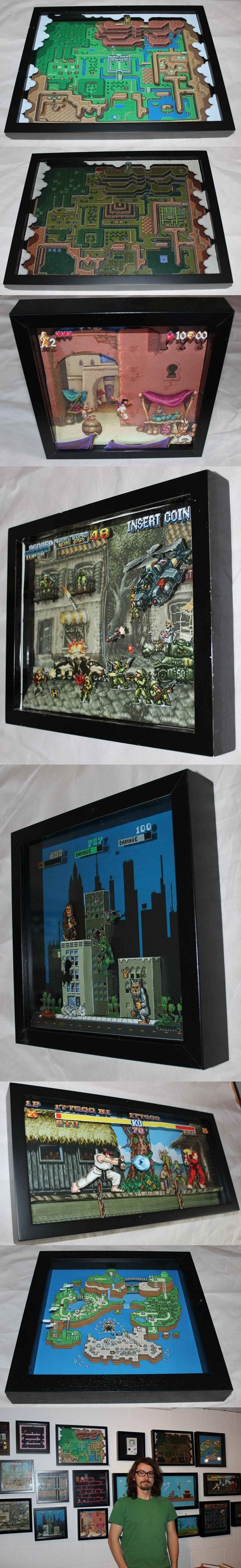 Classic Video Game Paper Dioramas: 3D-Tinted Glasses