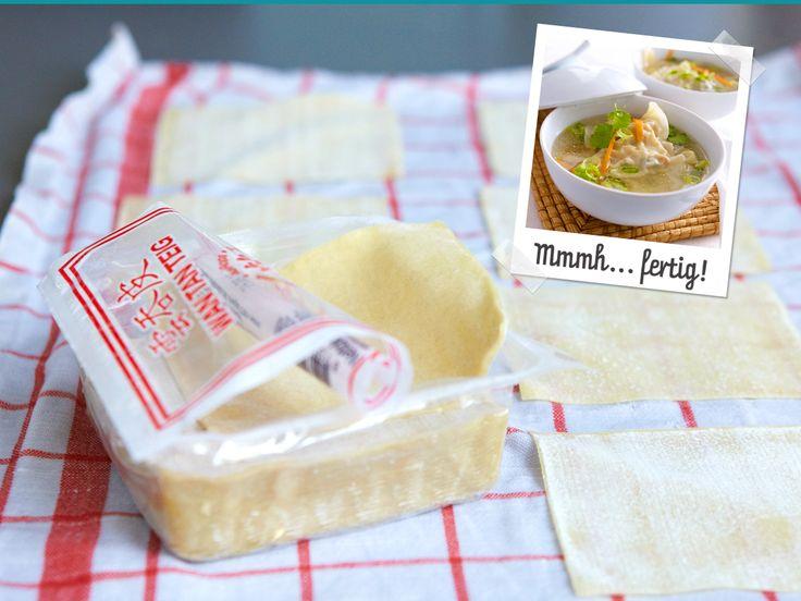 Wan-Tan-Suppe - so geht's Schritt für Schritt - wan-tan-suppe-zutaten  Rezept