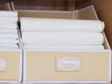 Linen Closet Storage Bins - contemporary - closet organizers - san francisco - Great Useful Stuff