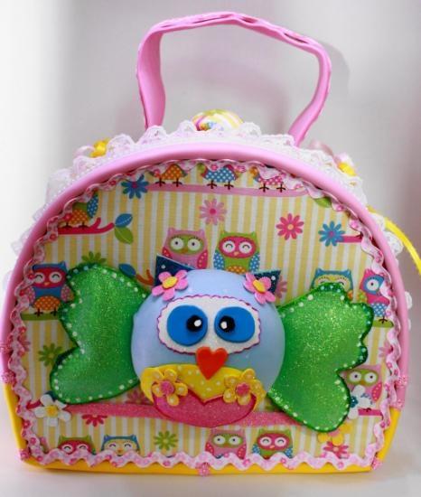 Buho, maleta para niña en goma eva o foami