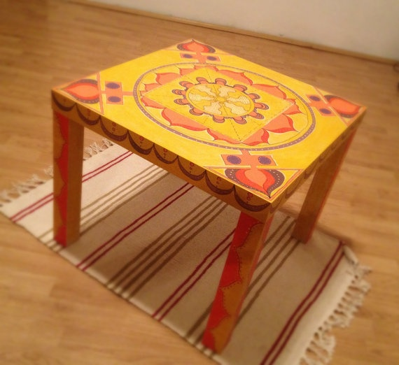 Hand Painted Mandala Coffee Table By Paintedmandala On Interiors Inside Ideas Interiors design about Everything [magnanprojects.com]
