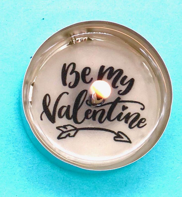 Teelichter mit Botschaften als DIY Geschenke für den Valentinstag