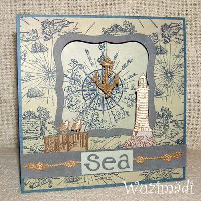 Wuzimädi bastelt: Maritime Zeltkarte
