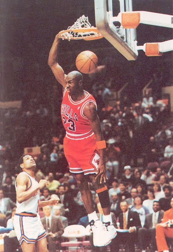 Michael Jordan. Realmente detestaba a este señor cuando hacia esto en NY