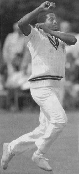 Sylvester Clarke, often cited as the quickest of all the great West Indians of the 1970s and 1980s. Only picked up a handful of caps because of the strength of competition but this gave him time to terrorise even more county championship batsmen for Surrey.