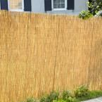 Hampton Bay 6 ft. H x 16 ft. L Natural Reed Bamboo Garden Fence 0406164 at The Home Depot - Mobile