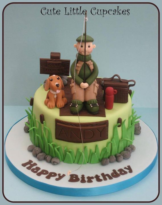 17 best ideas about fishing cakes on pinterest fishing for Fishing cake ideas