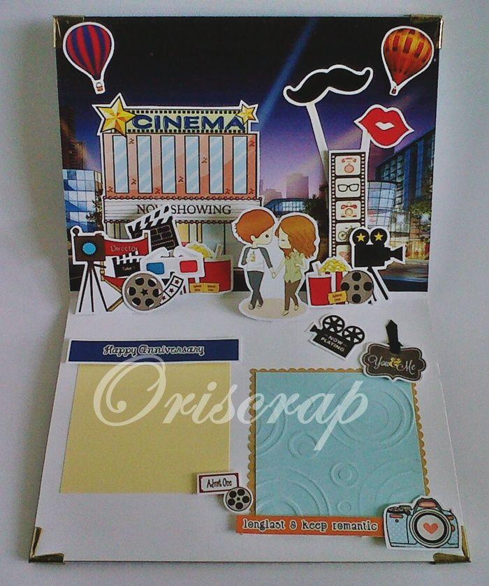 KARTU POPUP ANNIVERSARY ll POPUP 3D CARD ANNIVERSARY