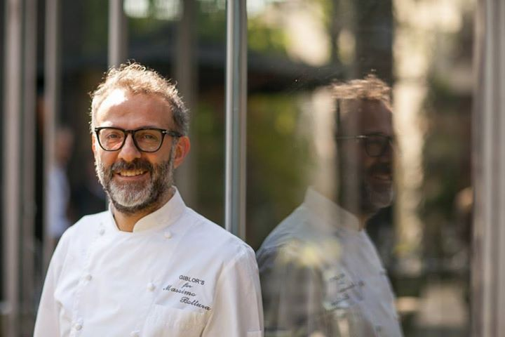 Chef Massimo Bottura ready to delight the guests of the S.Pellegrino Restaurant