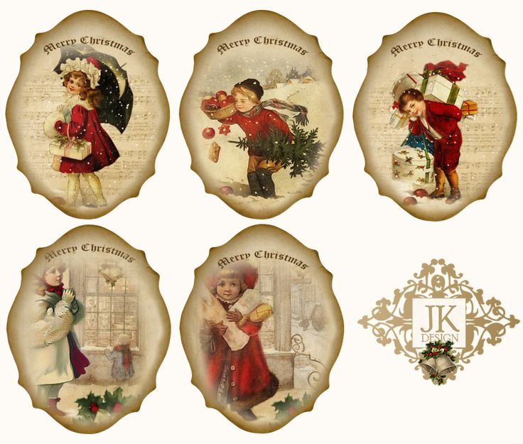 Free digital vintage Christmas Tags | SVG files and other Printables ...