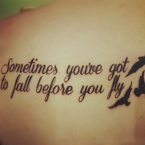 sometimes youve got to fall before you fly back left