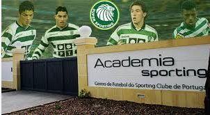 ACADEMIA SPORTING, Main gate. Ronaldo, Quaresma, Hugo Viana and Nani