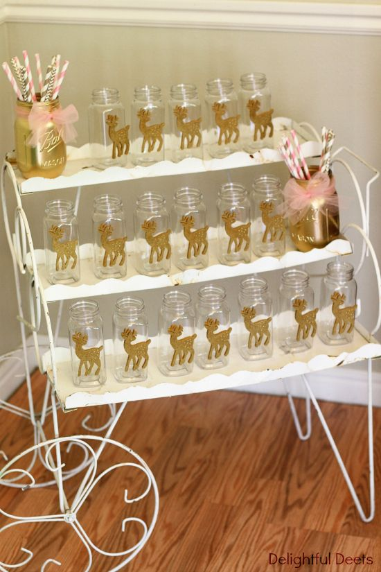 Gold, White, & Pink Deer Birthday Party
