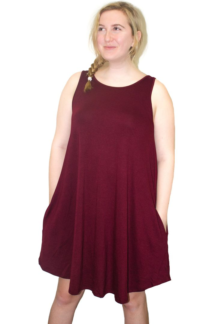 Mia Burgundy Dress