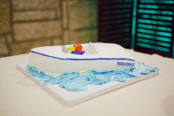 University of Kansas wedding cake!