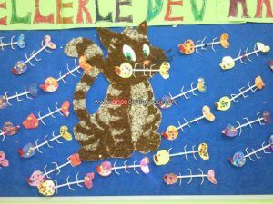 free cat bulletin board idea
