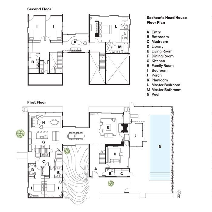 Good Vacation Floor Plans #9: Modern Connecticut Summer Home Renovation Floor Plans