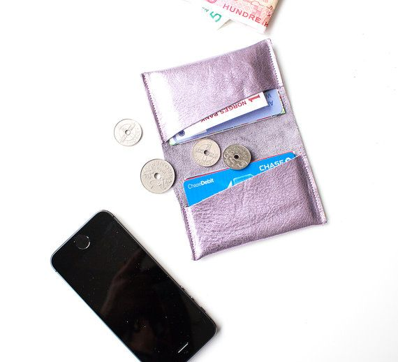 Leather Credit Card Wallet Leather ID Wallet by gmaloudesigns