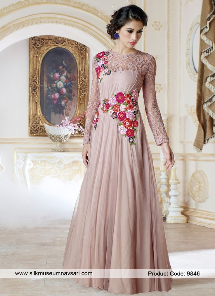 Majestic Hand Embroidery Work Designer Gowns