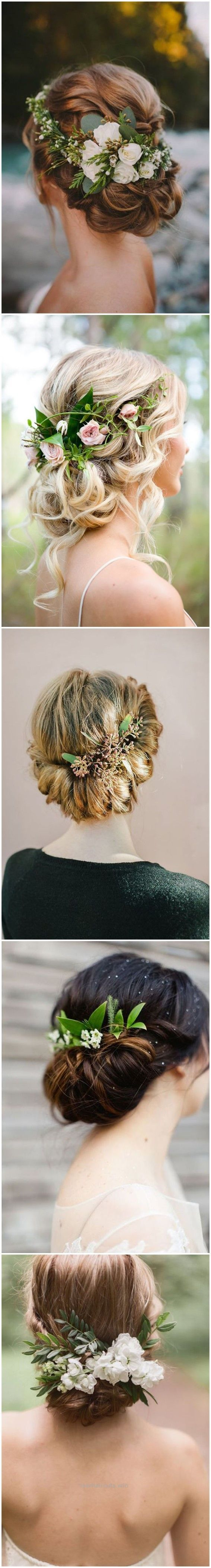 Adorable Wedding Hairstyles » 18 Wedding Updo Hairstyles with Greenery Decorations >>  ❤️ See more: www.weddinginclud…  The post  Wedding Hairstyles » 18 Wedding Updo Hairstyles with G ..