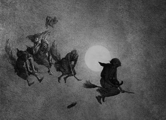 William Holbrook Beard - The Witches' Ride, 1870.