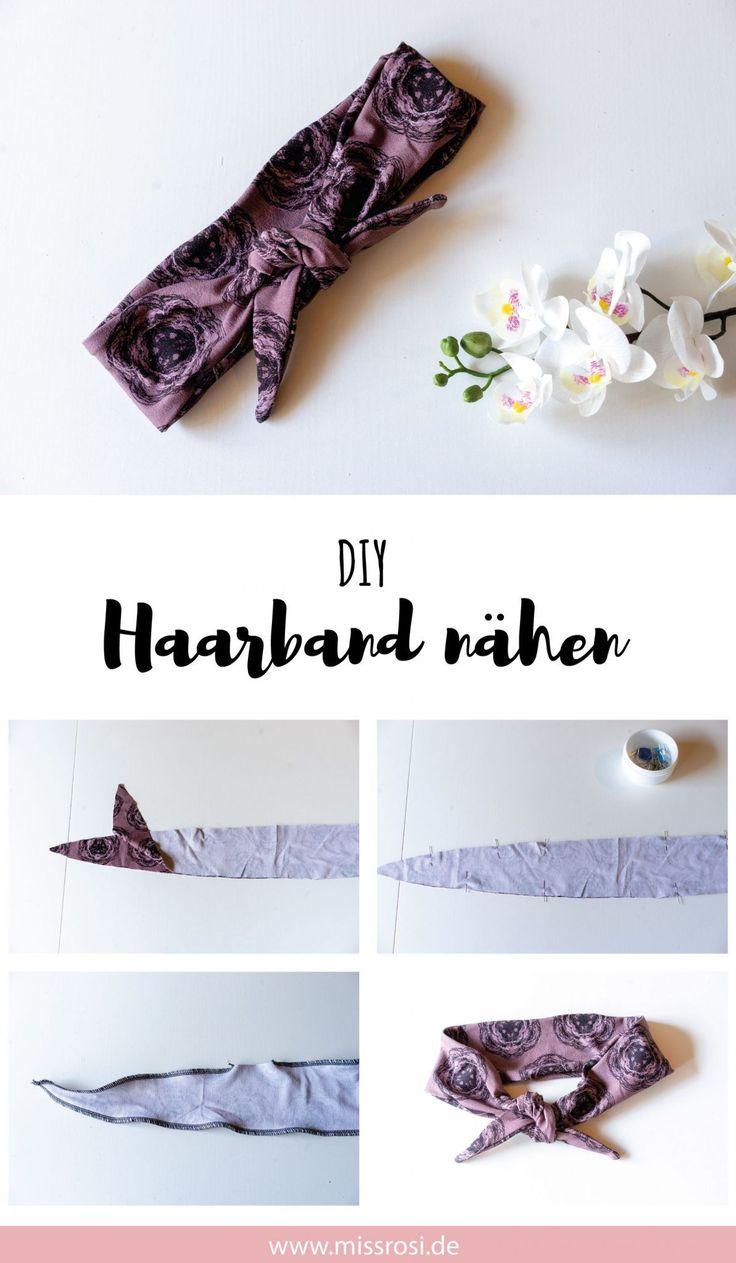 Haarband schließen, einfache Anleitung für Anfänger DIY Anleitung Haarband in ca. fünf Minuten. Super für Stoffreste