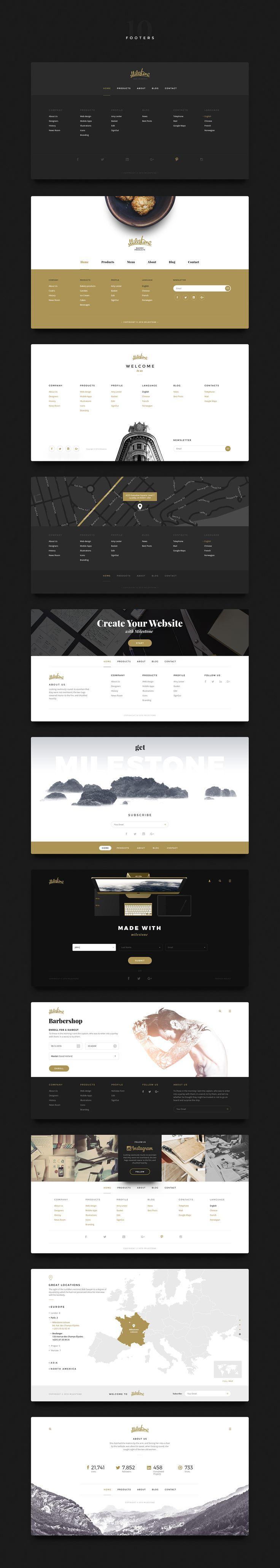 -45% Sale. Milestone UI Kit by Kavoon on @creativemarket