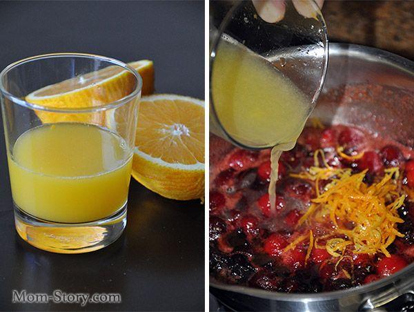 Американский клюквенный соус с апельсином